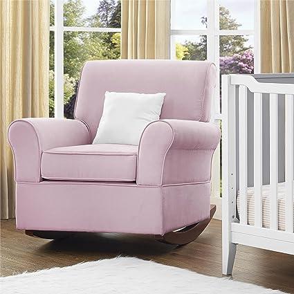 Amazon.com: Baby Relax The Mackenzie Microfiber Plush Nursery Rocker Chair, Grey: Baby