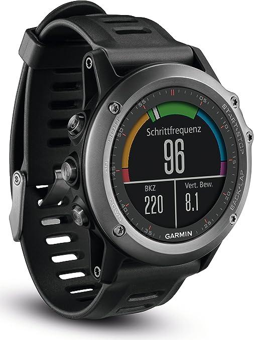 Garmin Garmin fenix 3 - Cardiofréquencemètre - montre multisport GPS, pack Performer gris/noir 2016 cardio velo