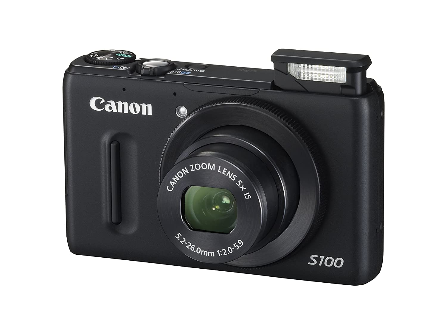 Canon PowerShot S100 12.1 MP Digital Camera with 5x Wide-Angle Optical Image Stabilized Zoom (Black)