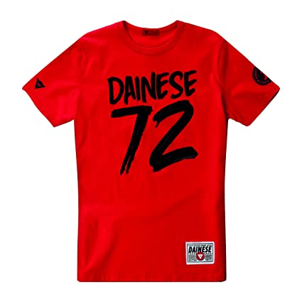 Dainese 1896354_002_XXXL 72 T-Shirt, Rouge, Taille : 46