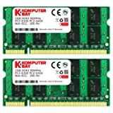 Komputerbay 4GB (2 X 2GB) DDR2 SODIMM (200 pin) 800Mhz PC2 6400 / PC2 6300 FOR Dell HP 4 GB KIT (Tamaño: 4 Gb)