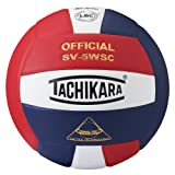 Tachikara Sensi-Tec Composite High Performance Volleyball (Scarlet/White/Navy)