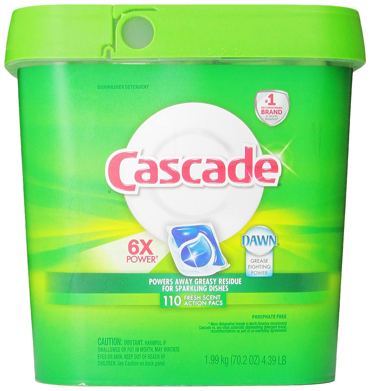 Cascade Actionpacs Dishwasher Detergent, Fresh Scent, 110 Count