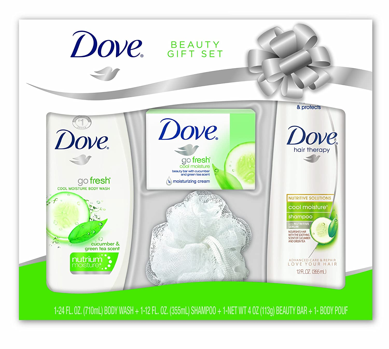 Dove Beauty 4 Piece Cool Moisture Gift Set