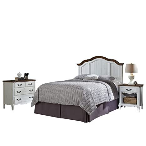 Home Styles 5518-5016 The French Countryside Full/Queen Headboard, Night Stand and Chest Set