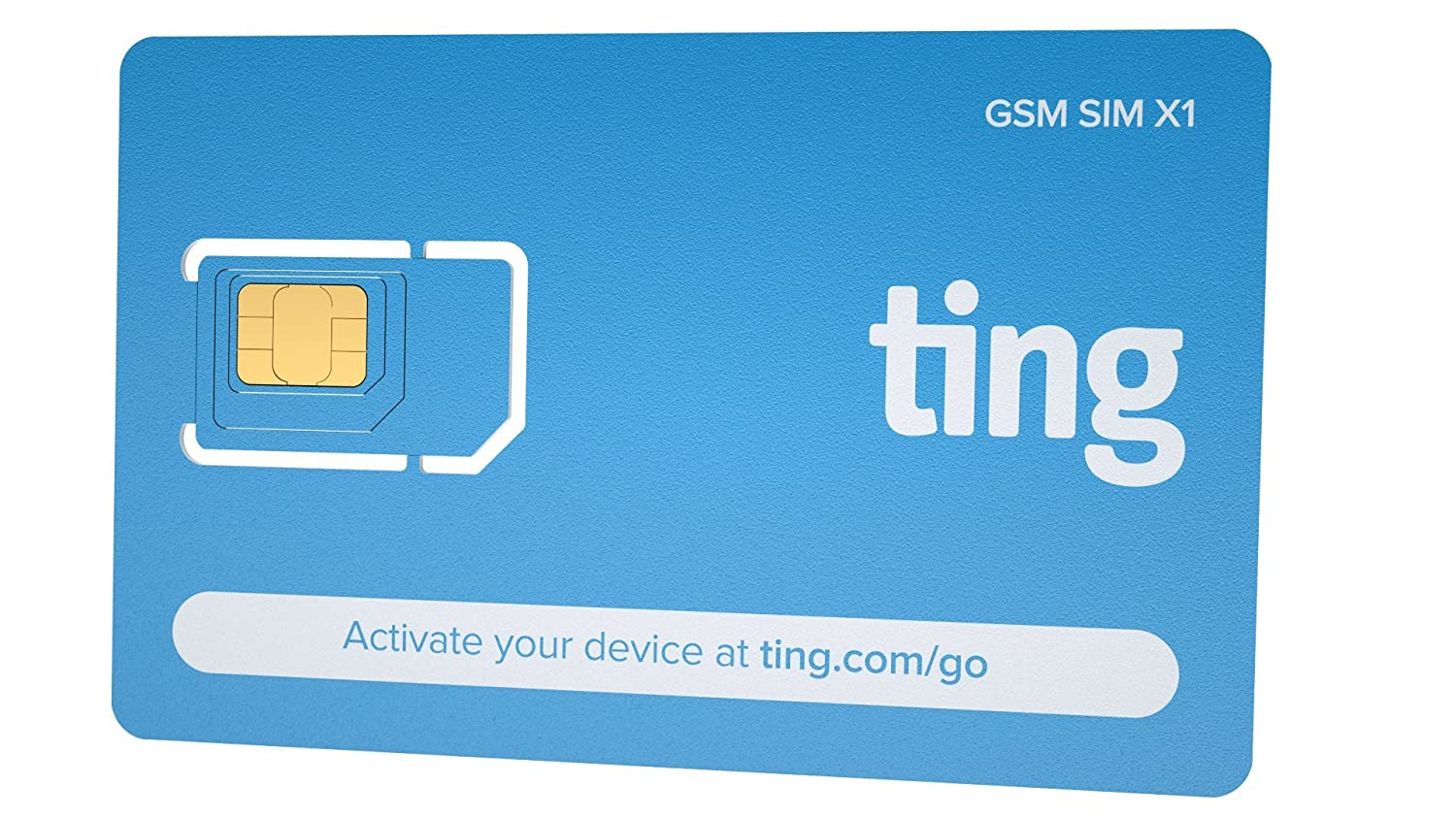 Ting GSM SIM card - No contract, Universal SIM, Nationwide coverage, Only pay for what you use