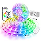 LED Strip Lights 32.8ft, Govee Bluetooth Color Changing RGB Light Strip, Music Sync and 7 Scenes with Phone App, Remote, Control Box LED Lights for Room, Party, Christmas, 3 Way Controls, 2x16.4ft (Color: Rgb (Red, Green, Blue))