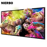 NIERBO Metal Projector Screen 2.4 Gain Light Rejecting Movies Screen 200 inch for 3D Home Theater (Tamaño: 200 inch)