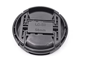 2 Pack of 58mm Lens Cap With Lens Keeper for Nikon, Canon, Sony and Other DSLR Cameras(Snap-ON Center Pinch)