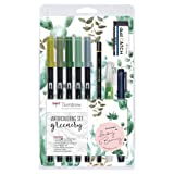 Tombow WCS-GR Watercoloring Set Greenery (Color: Greenery)