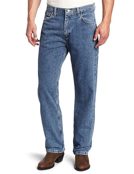 Wrangler牛仔裤海淘:Wrangler 男款宽松直筒牛仔裤