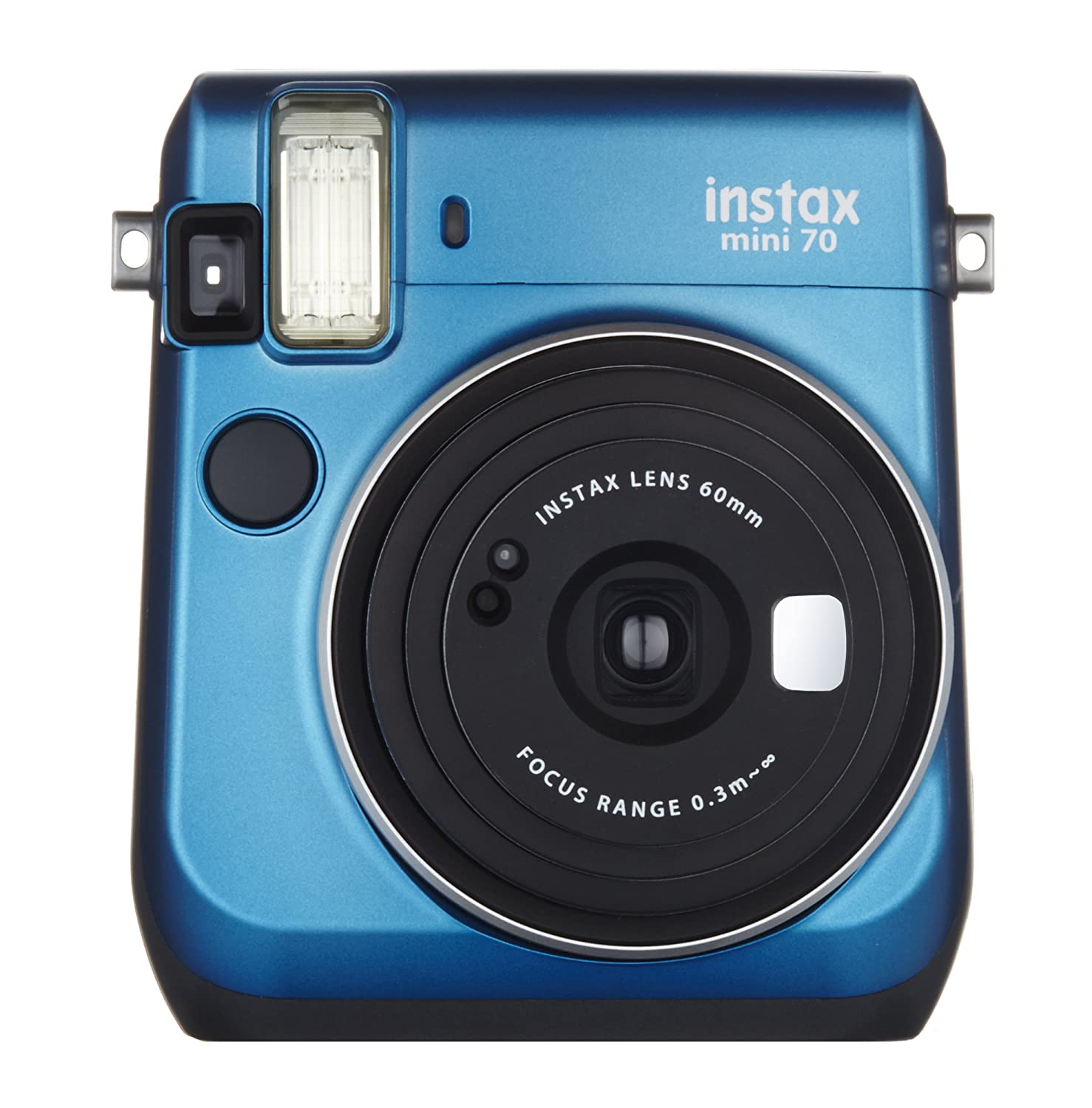 Image result for Fujifilm Instax Mini 70 Camera (Blue) + 1 Twin Pack Mini Film Of 20 Sheets Print   advertising
