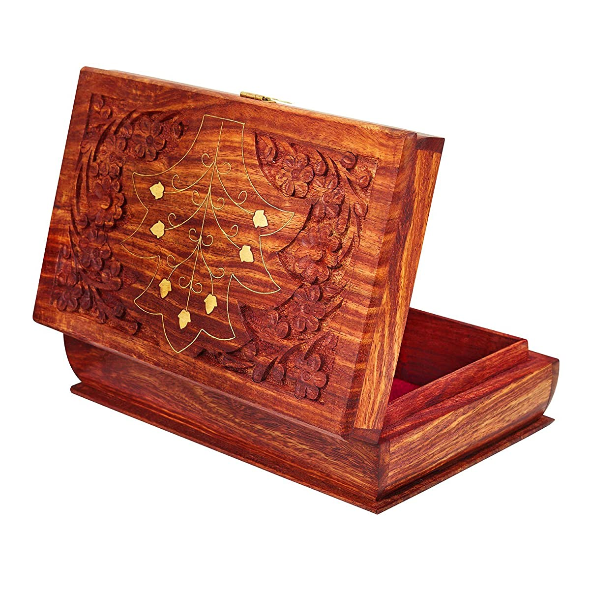 Handmade Wooden Jewelry Box With Free Lock Amp Key Keepsake