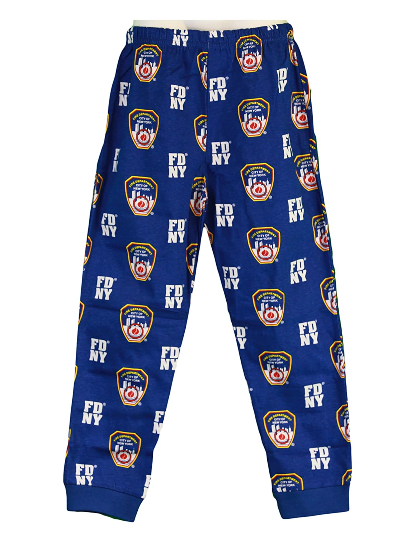 FDNY Kids Pajama Set Boys 2 Piece Sleepwear Blue