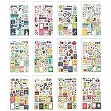 Carpe Diem Planner Essentials Seasons Mini Sticker Tablet (Color: Original Version, Tamaño: standart)