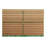 SB4 Snappable PC BreadBoard, Scored PCB, Snaps Into 4 Small Boards, 2-Layer, Plated Holes, Power Rails, 2.5 x 3.8in (63.5 x 96.5mm)