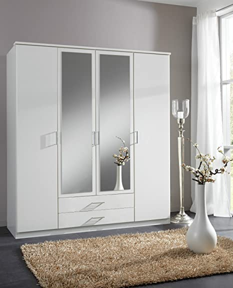 Wardrobe German Made Wimex 4 Doors in White Wardrobe Sale Furniture With Mirror Doors