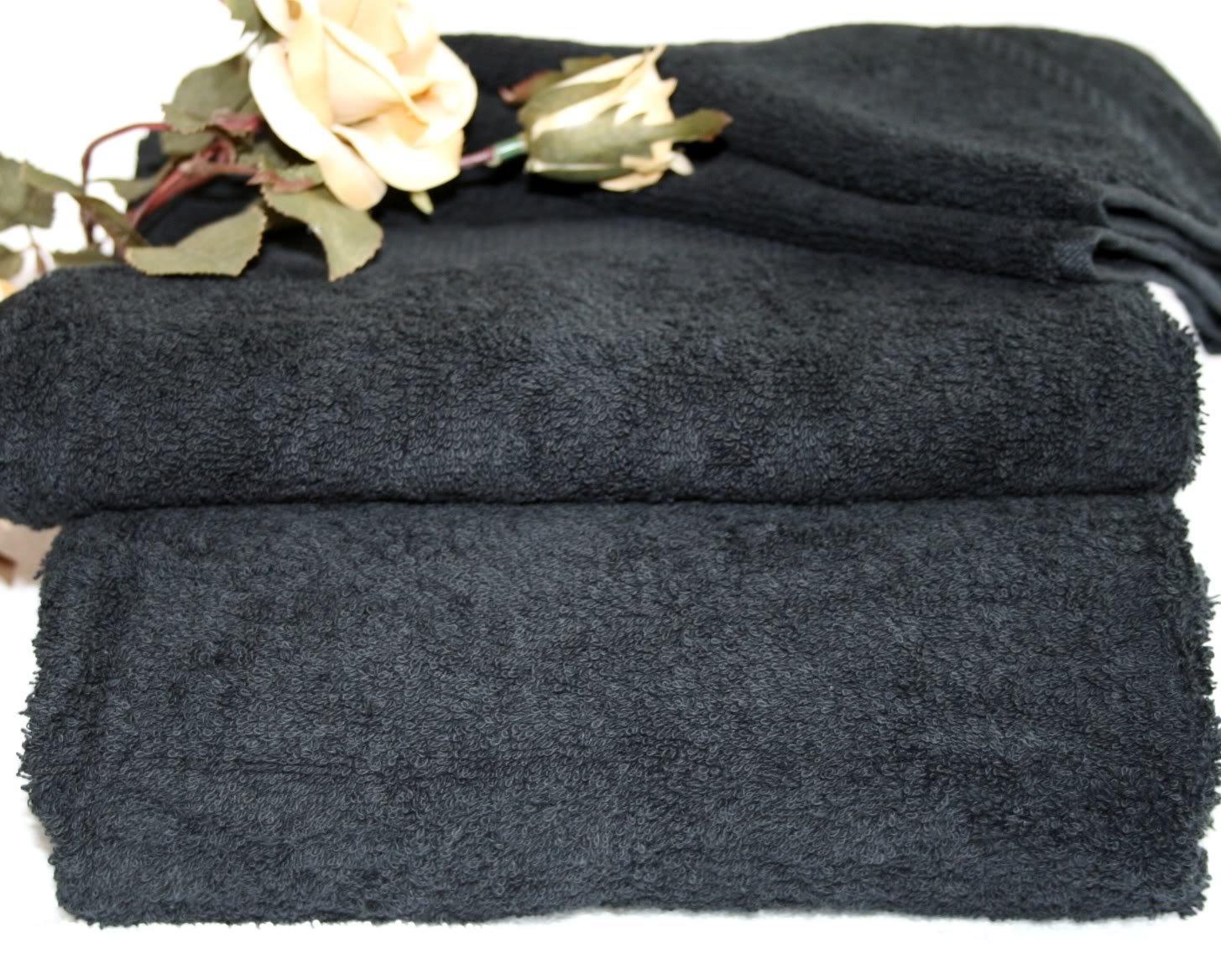 Homescapes Toalla Tocador en algodon, 500 m² de 30 x 30 cm color Negro   revisión y descripción más