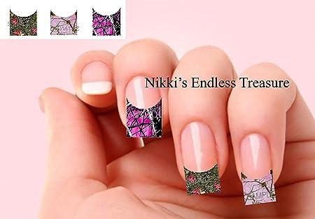 Digital Camo Nails Tip Camo Pink Nail Decals