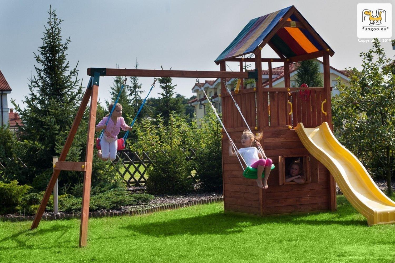 Fungoo ® Sun Hide&Move Spielturm Set mit Rutsche und Schaukel Farbe blaue Rutsche günstig kaufen