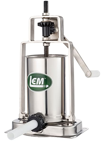 LEM Products 5 Pound Stainless Steel Vertical Sausage Stuffer Via Amazon
