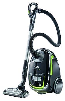 AEG UltraSilencer Oko USGREEN Staubsauger Mit Beutel EEK B 1000 Watt 3 Dusen Waschbarer Hygiene Filter E12 Schwarz Grun