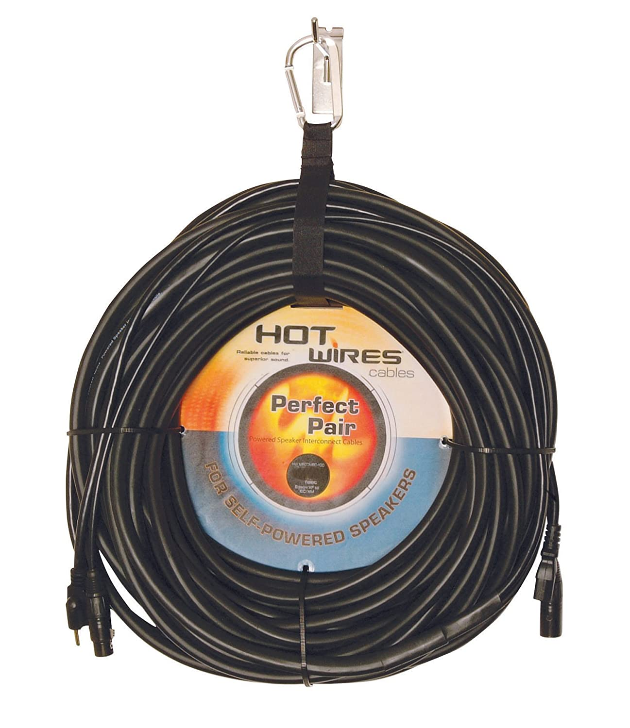 Hot Wires MP Combo Power and Audio Powered Speaker XLR Cable onstage my410