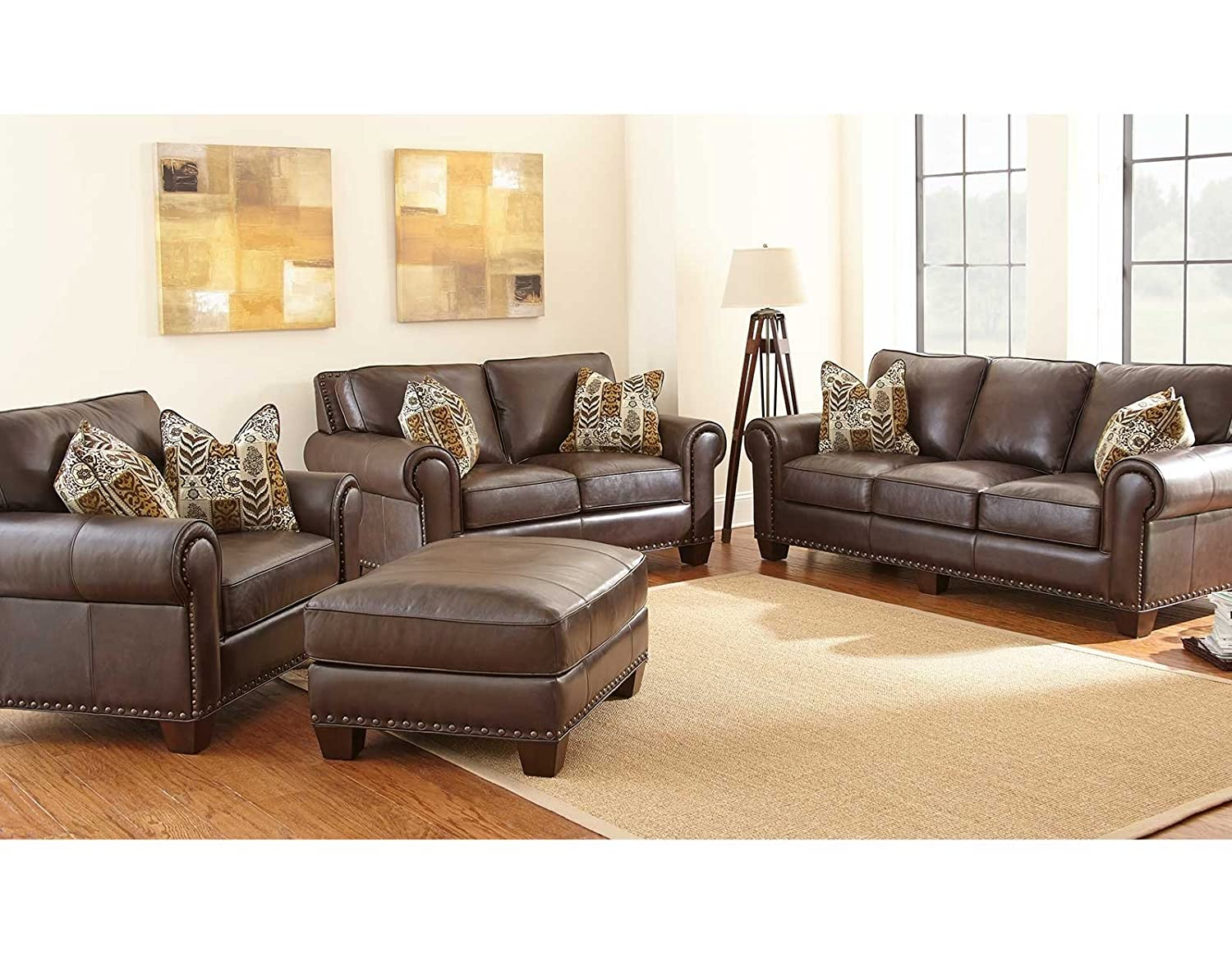 Steve Silver Company Escher Sofa with 2 Accent Pillows