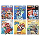 Hot Wheels Pop Culture Complete Set of 6: Super Mario Brothers