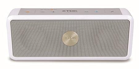 TDK  Haut Parleur Stéréo Bluetooth AAC Sans Fil d'Extérieur Résistant  Résistant à l'eau - Blanc