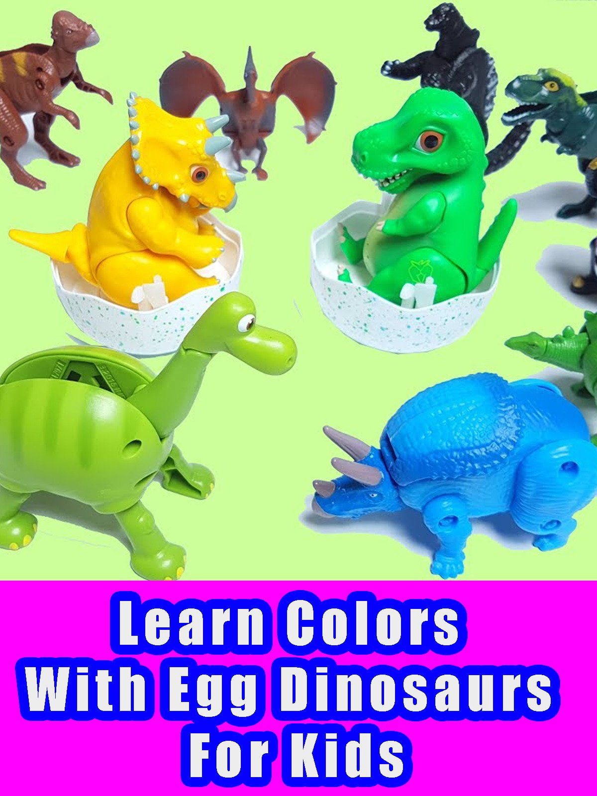 Learn Colors With Egg Dinosaurs For Kids on Amazon Prime Video UK