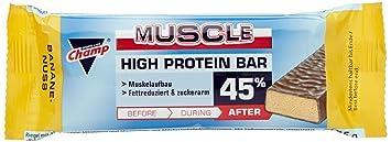 Champ Protein Bar 45% Banane-Nuss, 24er Pack  (24 x  45 g)