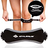 Athlerus Reflective Patellar Tendon Support Strap/Knee Pain Relief for Patellar Tendonitis, Runner's Knee, Hiking, Running (1 Pack, Black) (Color: Black, Tamaño: 1 Pack)