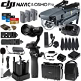 DJI Mavic & Osmo Pro Combo: Includes 4 Osmo High Capacity Batteries, Osmo Hard Case, Quad Charger, DJI Shoulder Bag, 3 Mavic Batteries, Spare Propellers, SanDisk 64GB MicroSD Card and more…