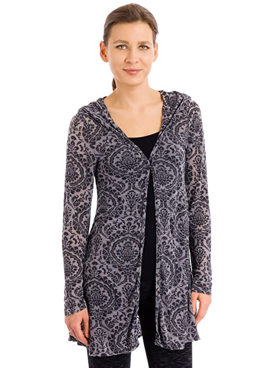 Hard Tail One Button Hoodie Cover-up