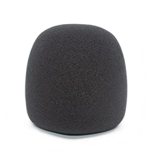 Professional Foam Windscreen for Blue Yeti - Covers Other Large Microphones, such as MXL, Audio Technica and Many More - Quality Sponge Material Makes This The Perfect Pop Filter for your Mic - Black