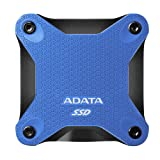 ADATA SD600Q 480G 3D NAND USB3.2 Ultra-Speed External Solid State Drive Read up to 440 MB/s Blue (ASD600Q-480GU31-CBK) (Color: Blue, Tamaño: 480GB)