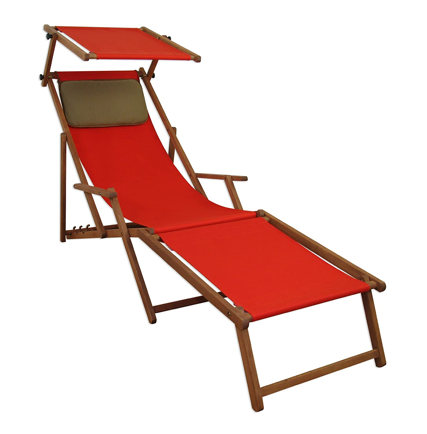 sonnenliege gartenliege deckchair saunaliege mit dach fu teil braun jetzt kaufen. Black Bedroom Furniture Sets. Home Design Ideas
