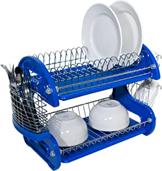 Home Basics 2-Tier Dish Drainer