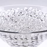 Adorox 8oz Bag Water Pearls Vase Fillers Sensory Play Gel Decoration Water Soil Beads (Clear)