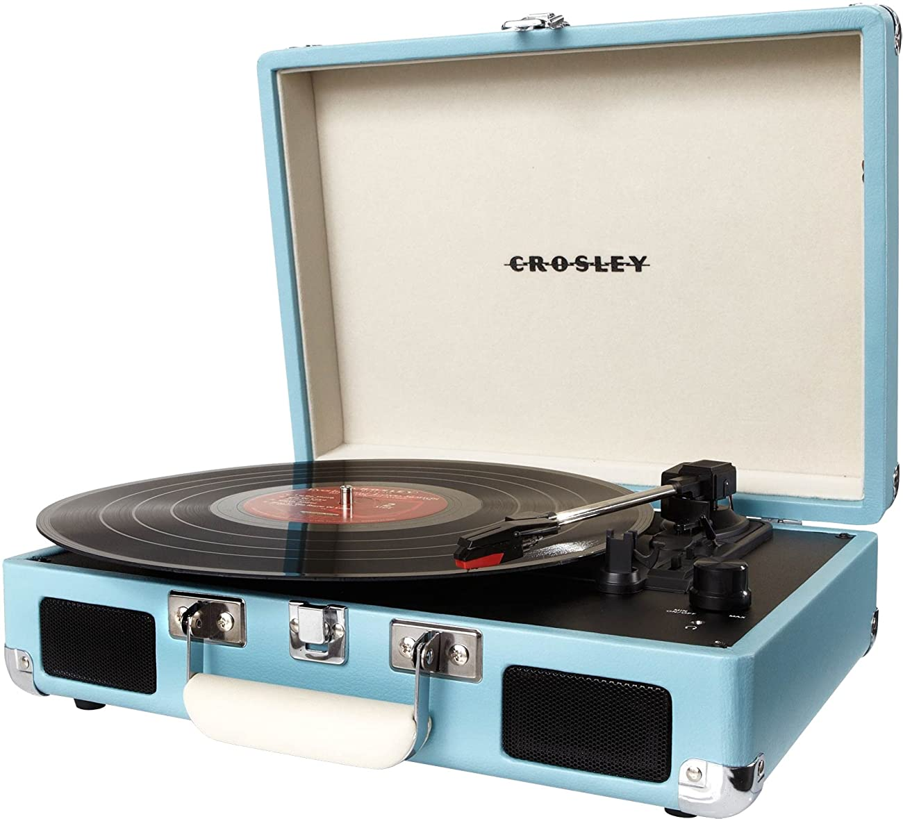 Crosley CR8005A-TU Cruiser Portable 3-Speed Turntable, Turquoise 1