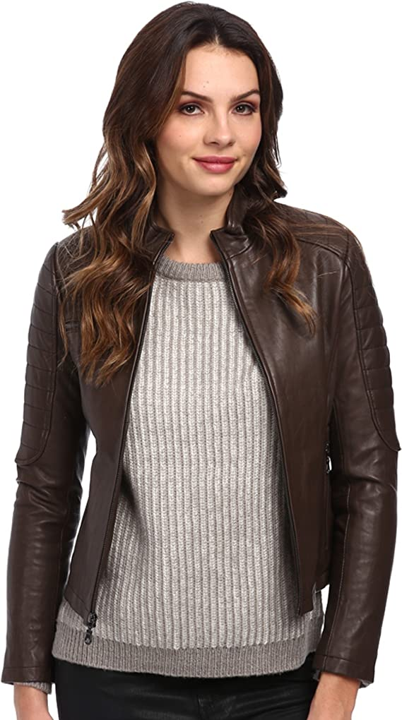 DKNY Women's Single Breasted Moto Jacket 18954-Y4