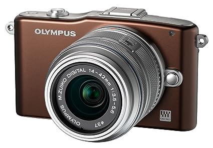 Olympus E-PM1 Kit boîtier Compact hybride 12,3 Mpix Chocolat + Objectif EZ-M14 42 II R Argent