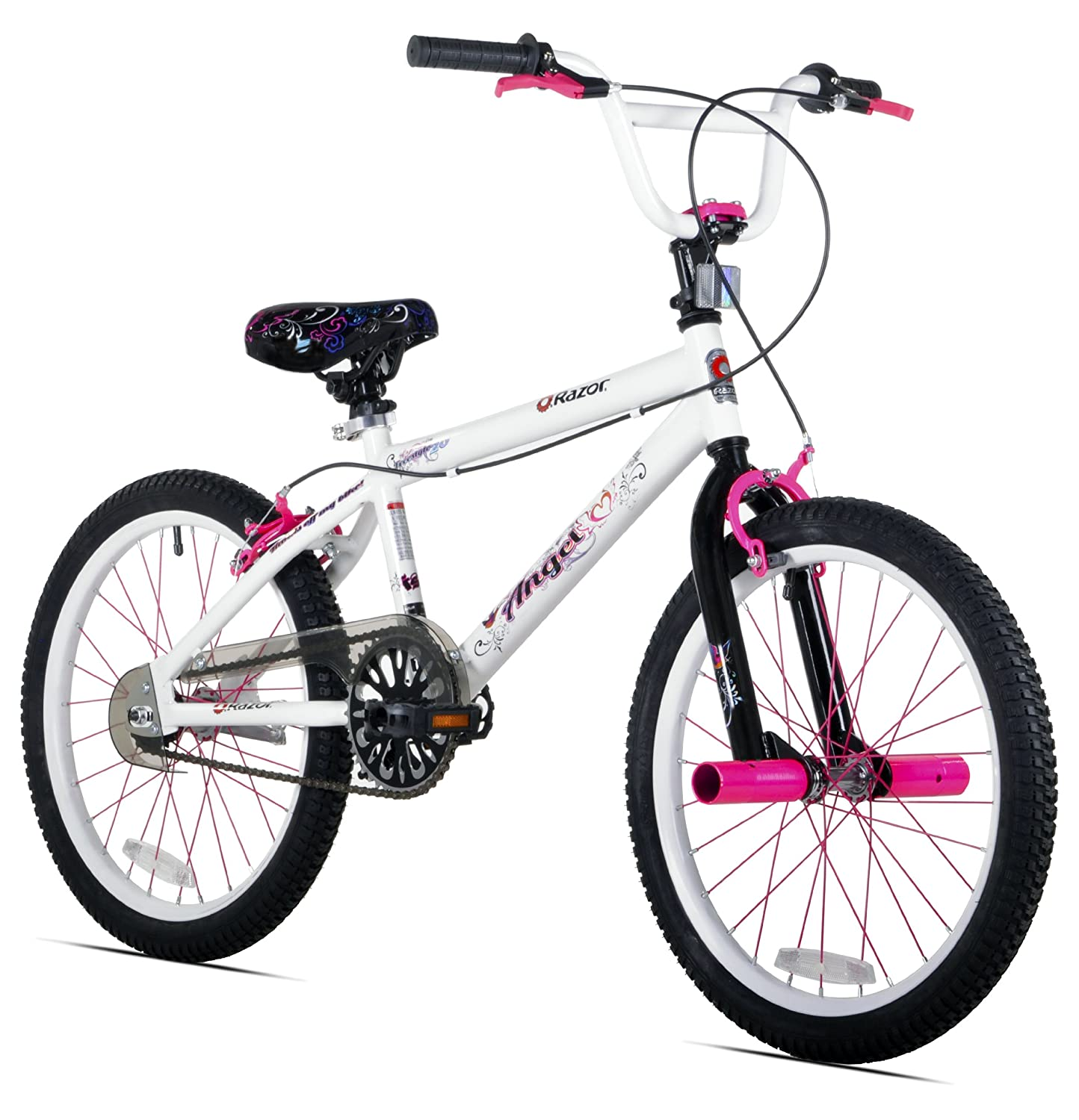 Cheap 20 Inch Bikes For Girls Razor Girl s Angel Bike White