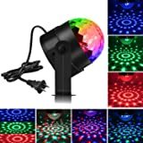 Spriak Party Lights Disco Ball 3w Led Sound Actived Strobe Stage Christmas Halloween Rgb Led Par Light Lighting