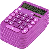 8 Digit Dual Powered Desktop Calculator,Large LCD Display, Lavender (Pack Of 6), by Office + Style (Color: 6 Lavender)