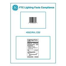 GE Lighting 48704 40-Watt Reveal Candelabra Globe G16.5 2-Pack