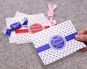 Penta Angel Candy Wrappers 400Pcs Twisting Wax Caramel Paper Sweets Lolly Baking Nougat Wrapping Paper for Homemade Wedding Birthday Christmas Chocolate Candy Packaging (Watch) (Color: Watch)