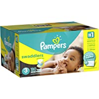 Pampers Swaddlers 180 Count Size 3 Diapers (One Month Supply)