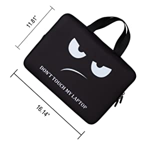 BRILA 15 inch Laptop Sleeve Tote Bag - Waterproof Neoprene Soft Carrying Case Cover Bag with Handle for 13.3 13.5 14 14.1 14.5 15 15.2 inches Apple MacBook/Asus/Acer/Samsung/DELL/HP/Lenovo/Sony/RCA